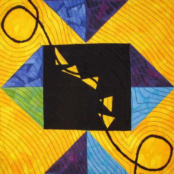 A Second Self Fabric Art Quilt