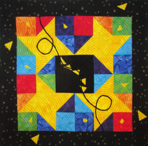 A Second Self Fabric Art Quilt