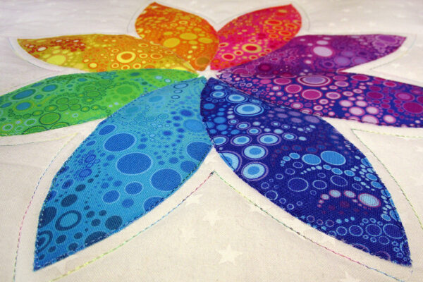 Breathe - Inhale small fabric art quilt