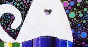 Cat Love mini art quilt