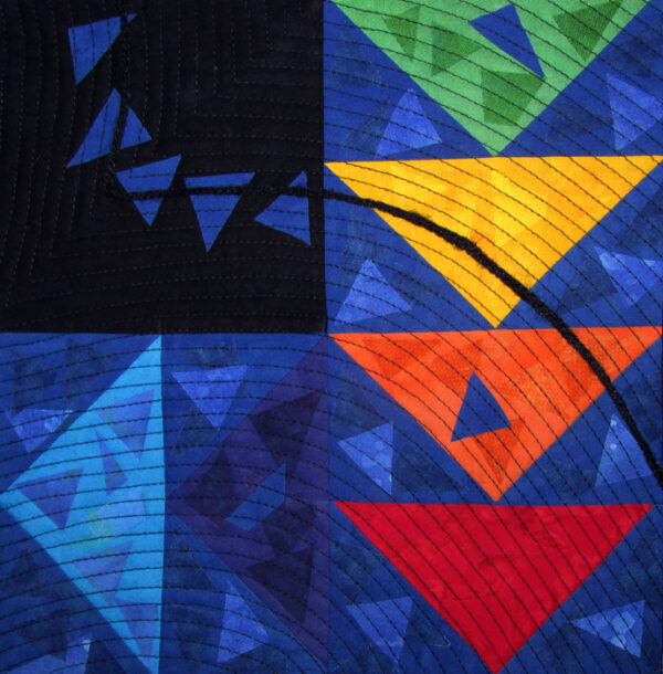 Chasing Geese Fabric Art Quilt
