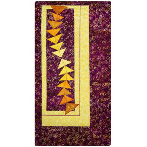 Dancing Geese Fabric Art Quilt