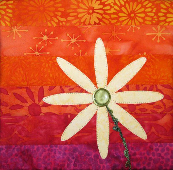Delightful Daisy small art quilt
