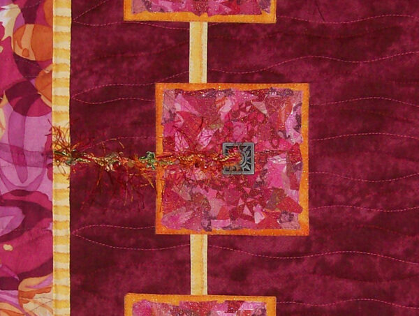 Let a Hundred Flowers Bloom Fabric Art Quilt