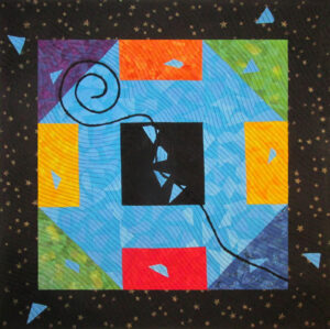 Monkey Tail Fabric Art Quilt