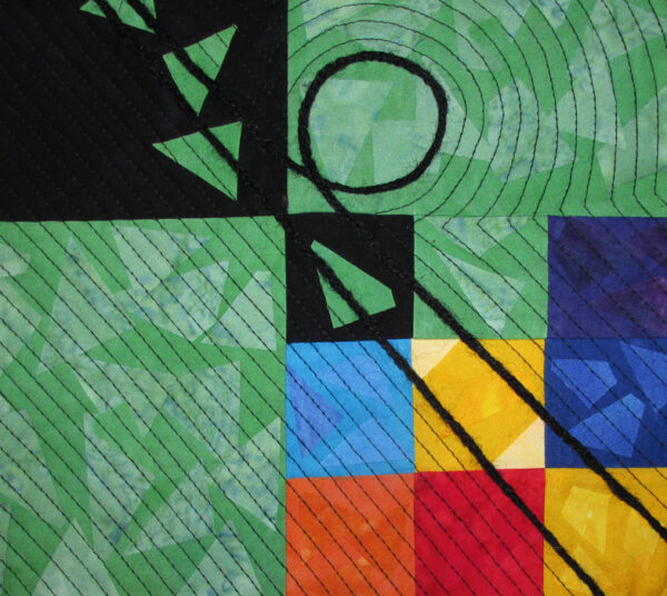 Nine Ball Fabric Art Quilt