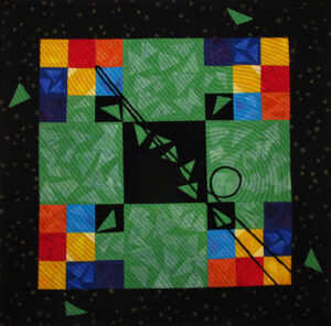 Nine Ball Fabric Art Quilt