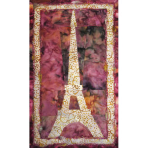 Eiffel Sunrise Fabric Art Quilt