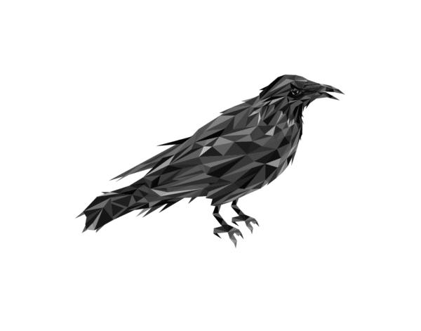 Polygon Raven Print