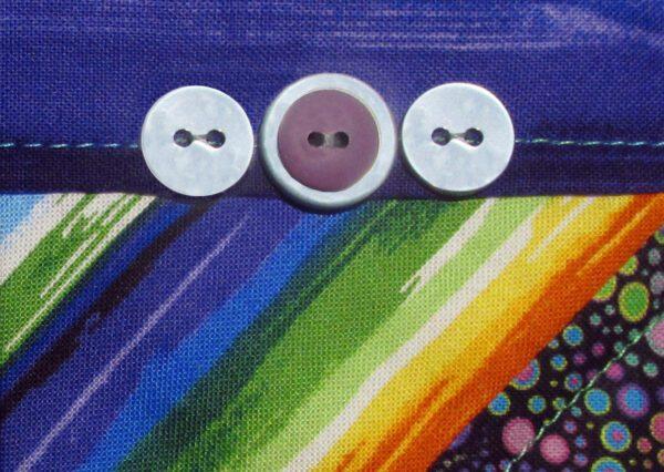Rainbow Heart mini art quilt