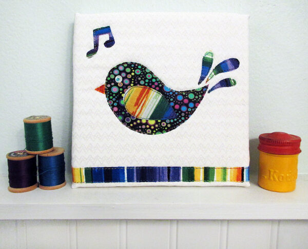 Sing mini art quilt