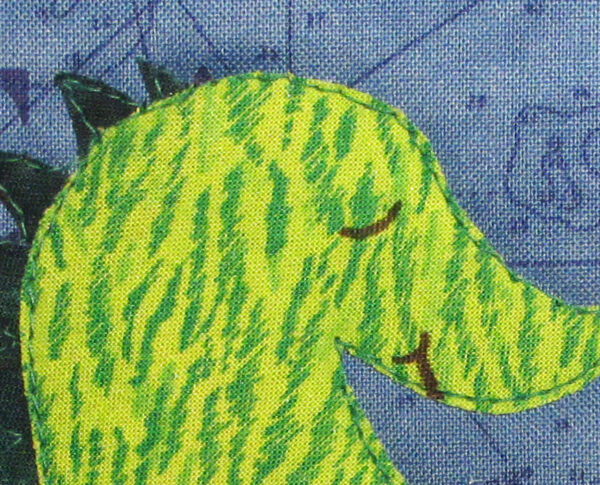 There Be Dragons Mini Art Quilt