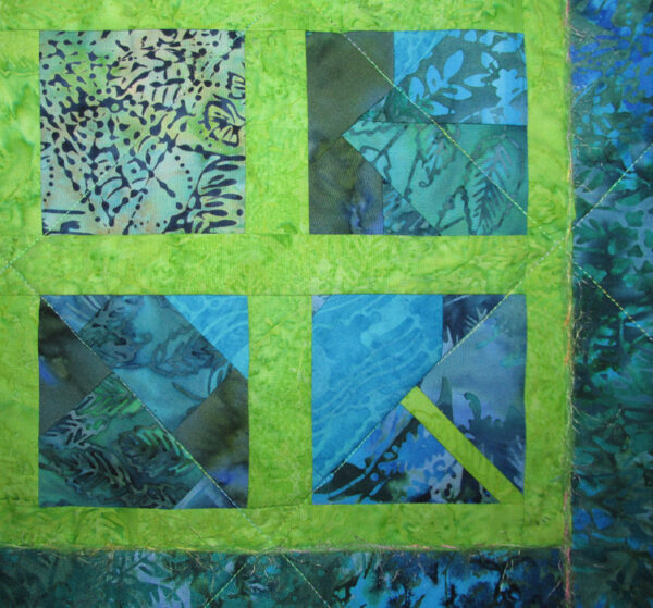 Window Web Fabric Art Quilt