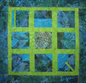 Window Web Fabric Art Quilt